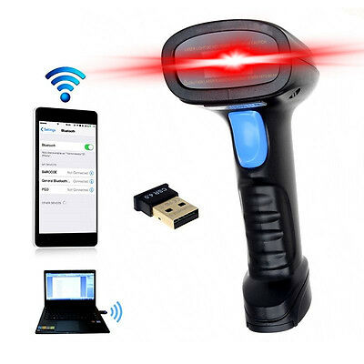Wireless Bluetooth Handheld Barcode Scanner EAN UPC USB Laser Reader Code Scaner