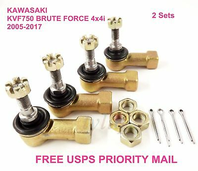2009 2010 Kawasaki KVF 750 Brute Force 4x4i Inner and Outer Tie Rod Ends 2 Sides