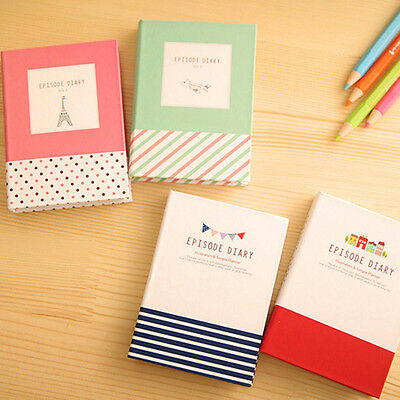 Diary Notebook + Ballpoint Pen Sticky Notes Set School Student Memo Stationery