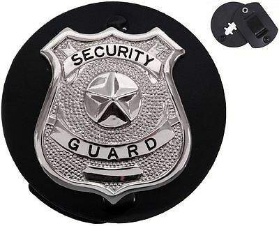 Police Security Shield Style Leather Clip-On ROUND Badge Holder Rothco 1137