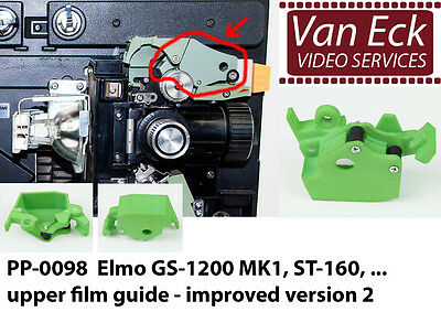 ELMO GS-1200 MK1 , ST-600 upper film guide - improved version 2 (PP-0098)