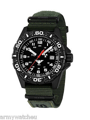 KHS Tactical Watches Men's Military Field Watch Trigalight© Natoband XTAC Green