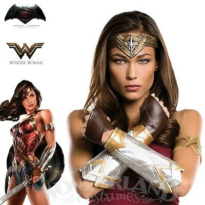 Wonder Woman Deluxe Accessory Set Costume Late Headband Gauntlets Arm Band Movie