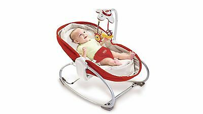 New Tiny Love Rocker Napper Red Play Bassinet Gift Baby Toys Gift Newborn Baby