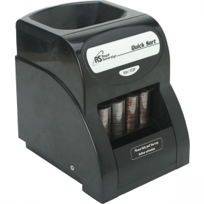 Digital Coin Sorter Money Counter Machine Change Sort Count Wrapper Business