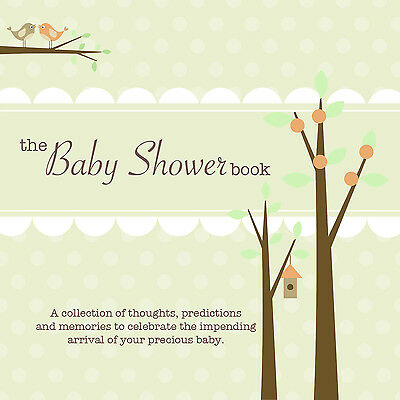 *REDUCED* THE BABY SHOWER BOOK~Predict baby stats, give advice/wishes~Green