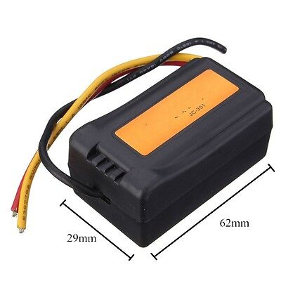 ElectricFilter DC12V Power Supply Pre-wired Black Plastic Audio Power Filter L