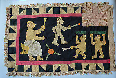 AFRICAN TRIBAL ART GOOD OLD pre 1957 FANTE ASAFO FLAG