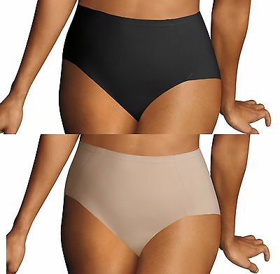 Maidenform Sleek Smoothers Everyday Control Brief. Smooth Control. 2 Pair Pack