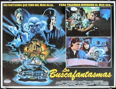 L437 GHOST CHASE  Mexican Lobby Card, '87 on a crazy night in hollywood,