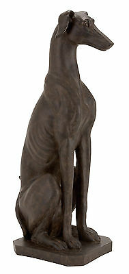 "Polystone Dog Sculpture in Traditional Brown Finish 31""H,12""W 44670"