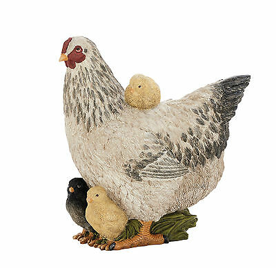 """GwG Outlet Polystone Hen Statue 9""""W, 10""""H 79948"""