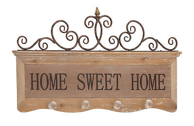 Classic And Lovely Inspired Attractive Styled Wood Metal Wall Hook Home Decor