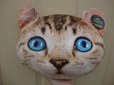 expressions Plush Tabby Cat Pillow NWT