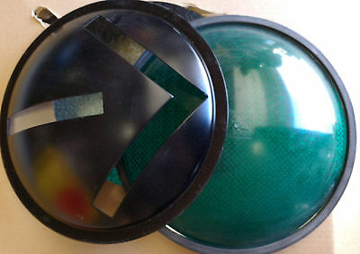 "Eagle Signal 12"" Green Plastic Traffic Signal Lens w/ Gasket and Arrow Insert"