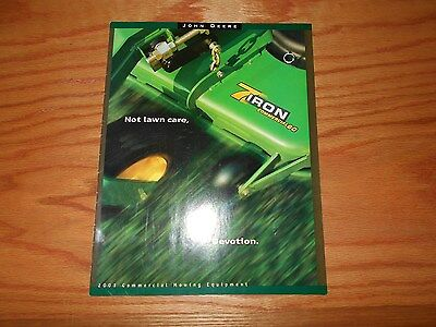 John Deere 2001 Commercial  Mowing  Equipment   Literature