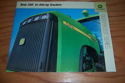 2001 JOHN DEERE 9020 / 9020T SERIES  TRACTOR  280- To 450-  HP  LITERATURE