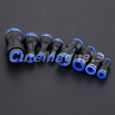 1/5pcs Pneumatic Fittings Push In Direct Way Reducer Connector For Air Tube Hose