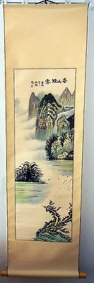 ORIGINAL Chinese hand painted landscape scroll vintage