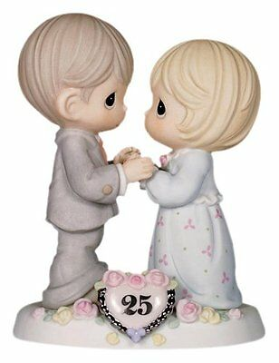 Precious Moments, Our Love Still Sparkles In Your Eyes, 25th Anniversary, Bisque