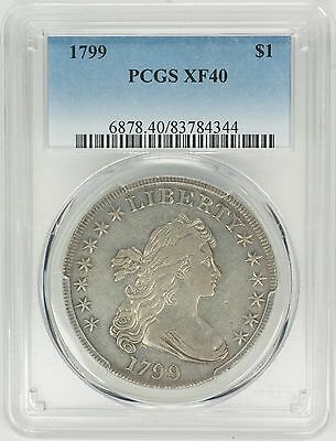 1799 $1 Draped Bust Dollar - PCGS XF40--In new PCGS Air Tight-Water Proof Holder