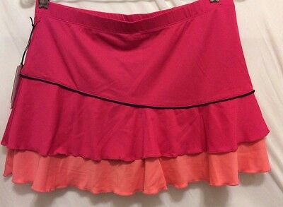 Tail Skort XL Girls Pink Orange Black Begonia Knit Pull-On Athletic NEW NWT