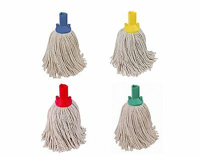 14oz Socket Mop Head Red Green Blue Yellow Floor Cleaning Colour Coded (Qty 5)