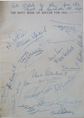 Manchester United 20 Signed 1963 - 64 Setters Charlton Cantwell Crompton Brennan