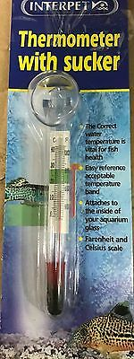 NEW Interpet Thermometer with Sucker FP120 Code 1508
