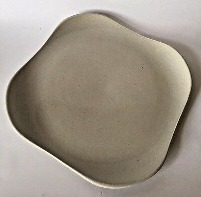 Mid Century Russel Wright American Modern Steubenville Gray Square Chop Plate