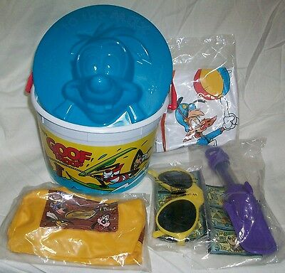 DISNEY AFTERNOON Summer Treasure BURGER KING COMPLETE SET Darkwing Duck Bonkers