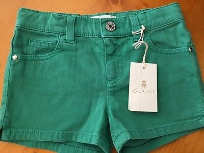 gucci kids Shorts green color new with tags.