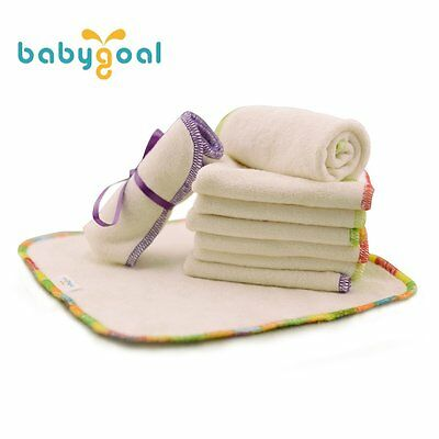 Babygoal Baby Wipes,Bamboo Washable Reuseable Saliva Towel Wipes 12pcs Cloth for