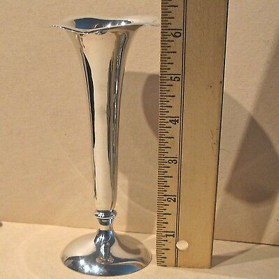 "Sterling Silver Shreve & Co San Francisco Footed  Flared Top 6"" Bud Vase"