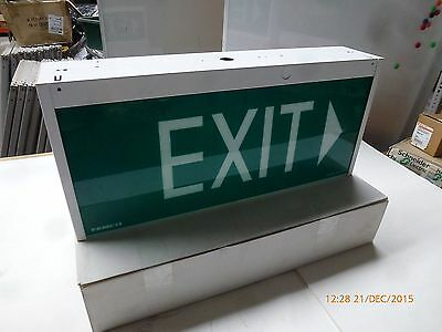 Famco F9927/150/DS/E Double-sided Hanging Green Exit Sign 240V 50Hz 0.4A New