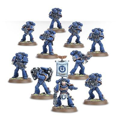 WARHAMMER 40K Space Marine Tactical Squad (10 Models) NOS