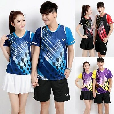 2017 Victor Korean team badminton clothing sports suit T-SHIRT shorts / Culottes