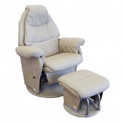 Babyhood Vogue Glider Chair & Ottoman White Feeding furniture