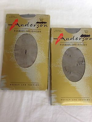 Anderson vintage patterned pantyhose Panther mids 2 x packs