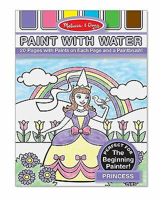 Melissa & Doug Paint with Water Coloring Book - Princess New Free Shipping