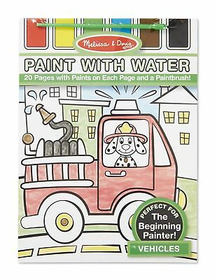 Melissa & Doug Paint with Water Coloring Book - Vehicles New Free Shipping