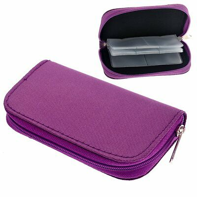 Foxnovo Portable 22 Slots Sd Sdhc MMC Cf Micro Sd Memory Card Holder Pouch Case