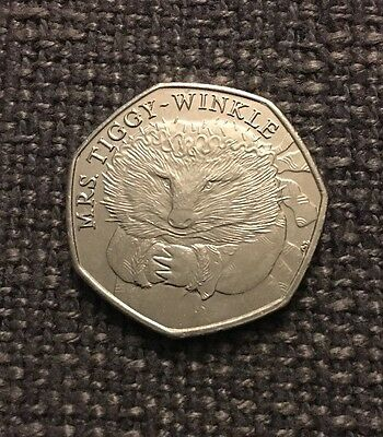2016 Miss Tiggy-Winkle 50p Fifty Pence Coin