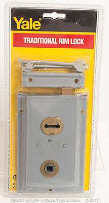 YALE Traditional Rim Lock Door External Plate COTTAGE Vintage SHED Brass TYPE