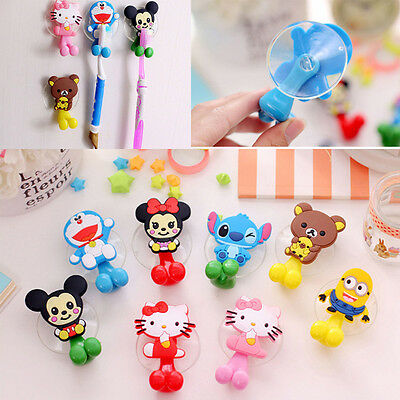 Cartoon Porte Brosse à Dent Bains Ventouse Clip Mural Support Toothbrush Holder