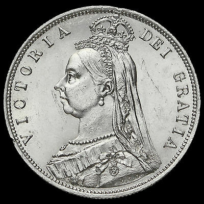 1887 Queen Victoria Jubilee Head Silver Half Crown, G/EF