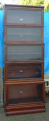 Antique Globe Wernicke Co Lawyers Bookcase Solid Mahogany 5 Stack all original