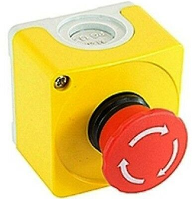 ABB EMERGENCY STOP ENCLOSURE CEPY11001 IP66 2xN/C Contact, Surface Mount, Yellow