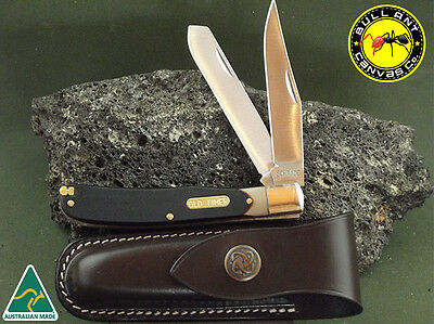 Schrade Old Timer 96OT  Bearhead Trapper  Complete With Horizontal Pouch