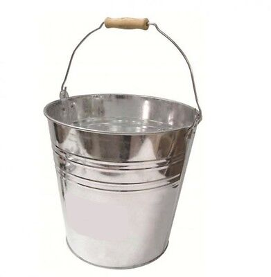 Small Large Galvanised Metal Bucket Fire Water Coal Ice Buckets Tub (3 SIZES)